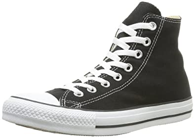 Converse Chuck Taylor All Star Shoes (M9160) Hi Top in Black, Size: 4.5 D(M) US Mens / 6.5 B(M) US Womens, Color: Black