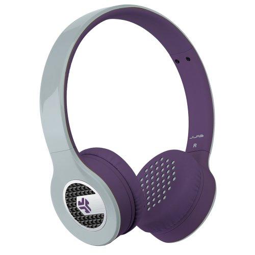Jlab Supra, Sleek Stereo On-Ear Headphones With Cable And Universal Mic (Gray/Purple)