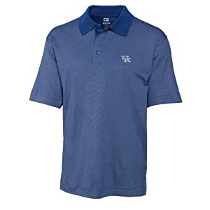 NCAA Mens Kentucky Wildcats Tour Blue Drytec Resolute Polo Tee by Cutter & Buck