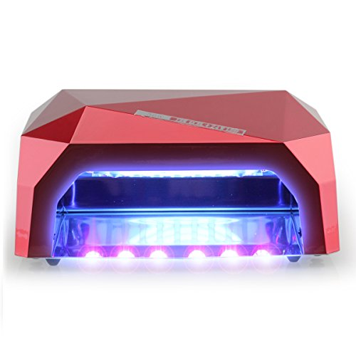 Perfect Summer Professional 36W UV LED Light Nail Dryer Curing Lamp for Gel Nail Polish -Elegant Red (Finger Nail Polish Gel Light compare prices)