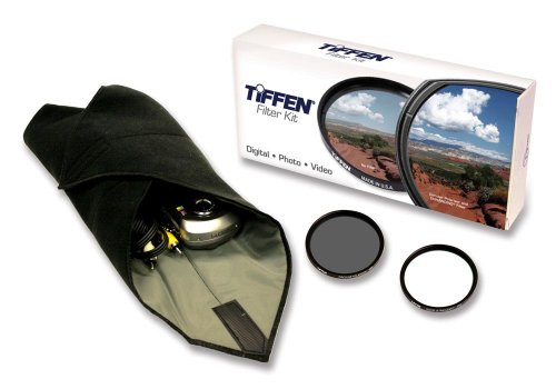 Tiffen 58mm Lens Kit includes Digital Ultra Clear Filter, plus Circular Polarizer Filter and Accessory Wrap