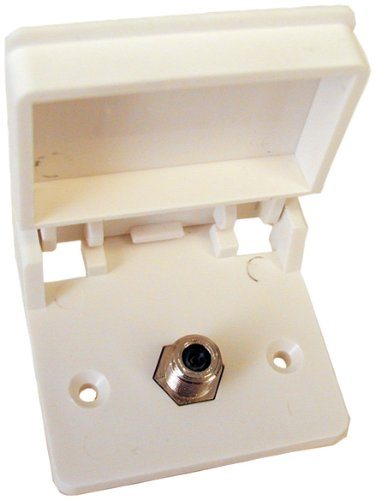 Prime Products 08-6201 White Exterior TV Receptacle