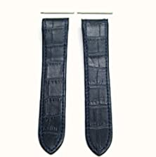 buy Screw + 23Mm Leather Strap Fit Cartier 38Mm Santos 100 Xl Blue