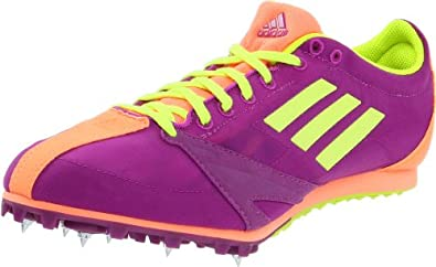 adidas Women's Arriba 3 Track Cleat,Ultra Purple/Electric/Ultra Bright,8 M US