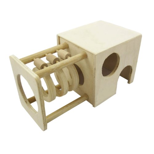 Alfie Lifestyle Small Animal Playground - Kami Wooden Hideout (Toy For Mouse And Dwarf Hamster) front-810574