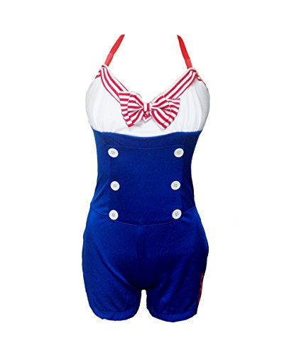 BSLINGERIE® Women Sailor Blue White Costume Halloween Outfit