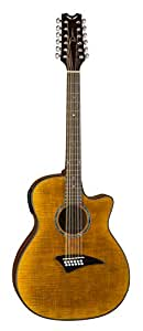 dean exotica 12 string acoustic electric cutaway guitar with tuner preamp tiger eye. Black Bedroom Furniture Sets. Home Design Ideas