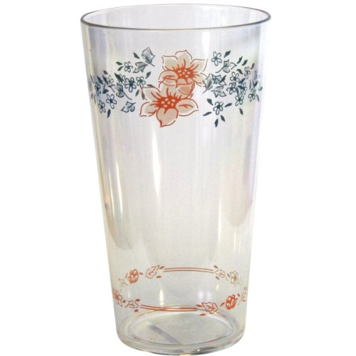 Corelle Coordinates Apricot Grove 19 Ounce Acrylic Glasses, Set of 6
