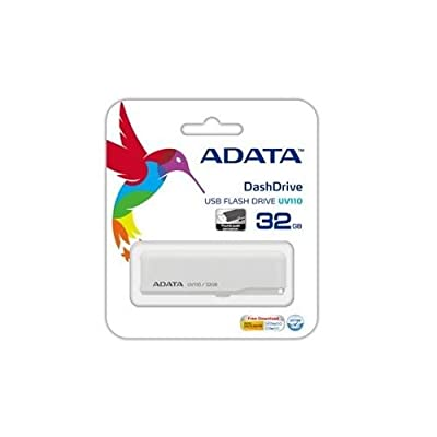 ADATA Dash Drive AUV110-32G-RWH 32GB USB 2.0 Retractable Flash Drive (White)