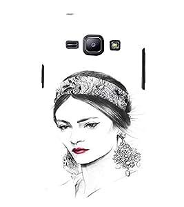 EPICCASE Cute Face Lady Mobile Back Case Cover For Samsung Galaxy J2 (Designer Case)