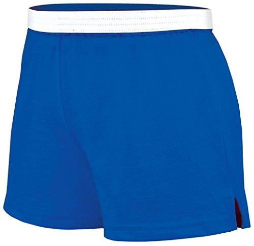 Soffe Juniors Athletic Short, Royal, Large Jersey Knit Cheer Shorts