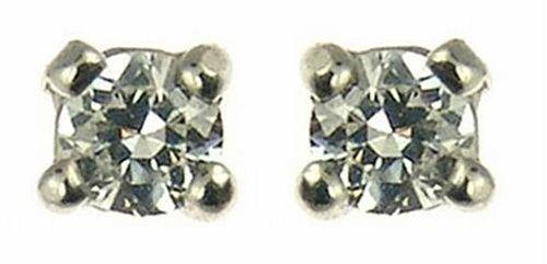 Ladies' Diamond Solitaire Stud Earrings, 9ct Yellow Gold, 4 Claw Set, I2 Diamond Clarity, 0.15 Carat Diamond Weight, Model 9-ER300DI4/15