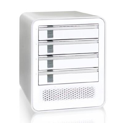 Cremax ICY DOCK MB561S-4S eSATA External 4 Drive Enclosure - Pearl White