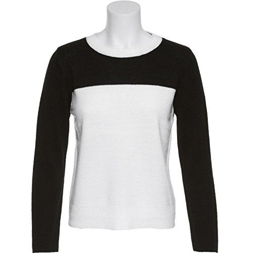 Bb Dakota Color-Block Sweater,Blk,M