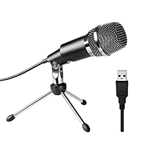 USB Microphone,Fifine® Plug &Play Home Studio USB Condenser Microphone for Skype, Recordings for YouTube, Google Voice Search, Games(Windows/Mac)-K668