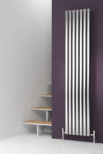 Renia Nerox Brushed Stainless Steel Radiator Length: 413MM, Height: 1800MM