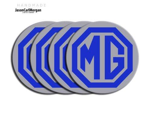 MG ZT LE500 Noir Argent & Jante en alliage Bouchon Badges (CLR80mm)
