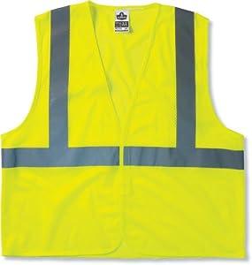 GloWear 8210HL Class 2 Economy Vest Small/Medium, Lime