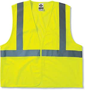 Ergodyne GloWear 8210HL Class 2 Economy Vest Small/Medium, Lime