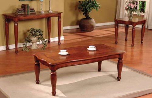 Buy 3 Pc Pack Coffee Table And End Table Set In Cherry Ad 41230 Cheap 3 Pc Pack Coffee Table And End Table Set In Cherry Ad 41230