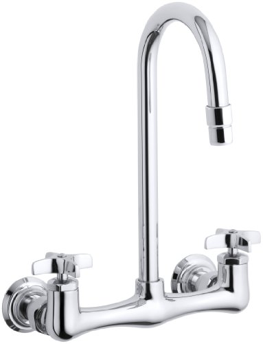 Kohler K-7320-3-Cp Triton Utility Sink Faucet With Cross Handles, Polished Chrome