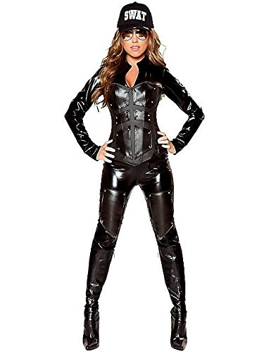 Women's Sexy Bullet Proof SWAT Babe Deluxe Costume M