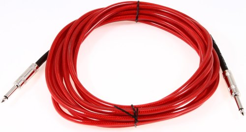 Fender 18 Feet California Clear Instrument Cable - Candy Apple Red
