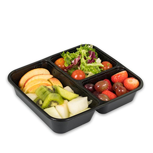 Is All Sorts 3 Compartment Food Storage Bento Box with Lids (Pack of 10) (Square Metal Dog Food Container compare prices)