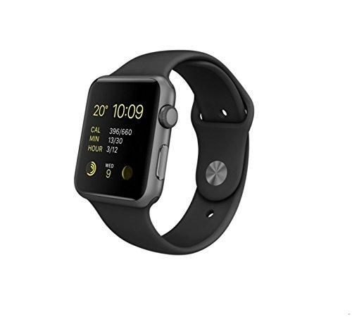 Apple-mj3t2bun-42-mm-deporte-banda-reloj-espacio-grisnegro-Certificado-Reformado