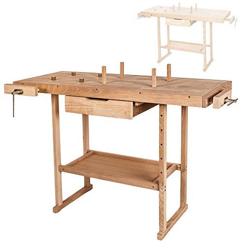 TecTake Holz Werkbank - L