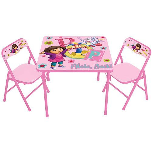 Dora The Explorer Square Table And Chair Set