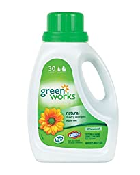 Green Works 30360 Natural Laundry Liquid Detergent, 45 fl oz Bottle, Original