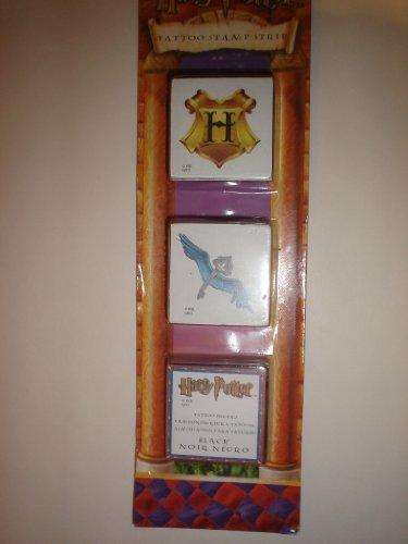 Harry Potter Rubber Tattoo Stamp Strip: Hogwarts Crest & Winged Key
