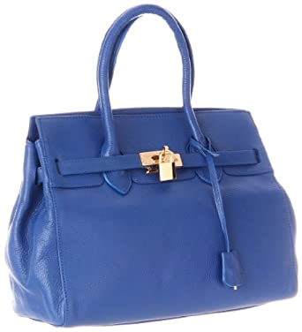 Co-Lab by Christopher Kon Rebecca 1372 Satchel,Blue,One Size