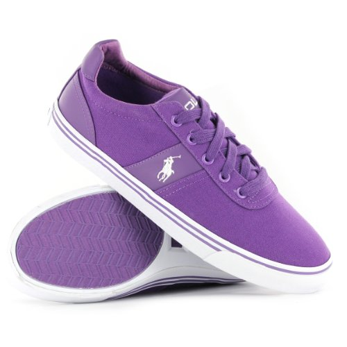 Ralph Lauren Hanford Purple Leather Mens Trainers