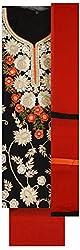 Pal-Pal Women's Viscose Dress Material (PAL-PAL-G, Red & Black)