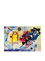 ArtopWeb Panel Decorativo Kandinsky Gelb-Rot-Blau 90x60 cm Multicolor