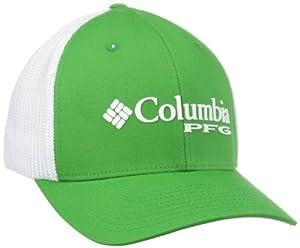 Columbia Sportswear PFG Mesh Ball Cap, Clean Green, Small/Medium
