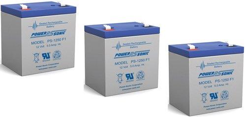 Ca1240 12V 4Ah First Alert Adt Alarm Battery New Ps-1250 - 3 Pack