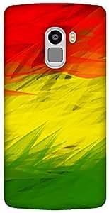 The Racoon Grip rastafarian flag hard plastic printed back case / cover for Lenovo K4 Note