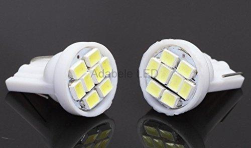 2 Pc 194 5000K Bright White 1206 8 Led Car Bulb Miniature Wedge Base W5W T10 L19 @ 147, 152, 158, 159, 161, 168, 184, 192, 193, 194 2830