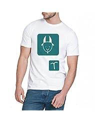 Chillum Men's Cotton T-shirt White - B00R94YLM8