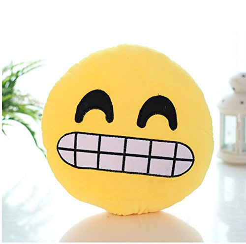 Markham123 32cm/12.6inch Funny Cute emoji pillow Decorative Cushion Home Car Smiley Face Pillow Stuffed Toy Soft Plush (Cheese smile) (Cheese It Pillow compare prices)