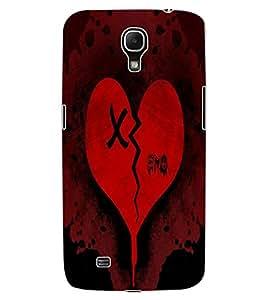 ColourCraft Broken Heart Design Back Case Cover for SAMSUNG GALAXY MEGA 6.3 I9200