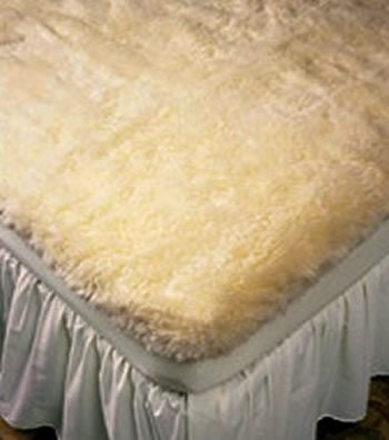 Ultimatt Fully-Fitted Wool Mattress Pads Cream Queen