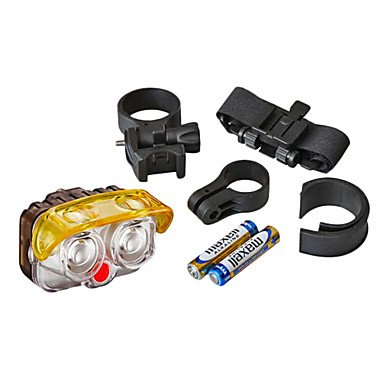 Xs Akslen 2-Led 2-Mode White Light Bicycle Safety Light With Mount Holder (Batteries Included,2 X Aaa)
