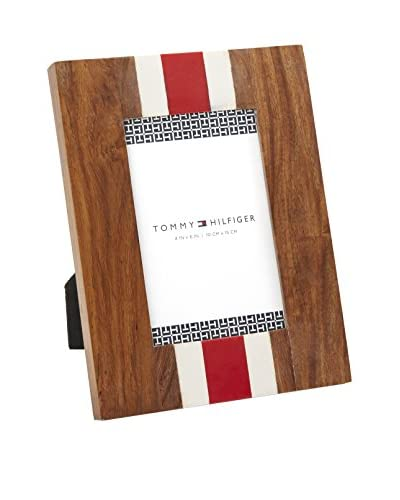 Tommy Hilfiger Striped 4 x 6 Wood Frame, Brown/Red