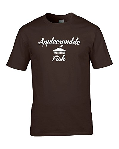 APPLECRUMBLE & FISH - designer fashion brand inspired parody funny men's T Shirt
