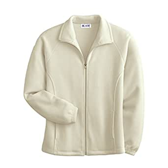 Blair Women's Plus Size Scandia Fleece Jacket - XL Cream