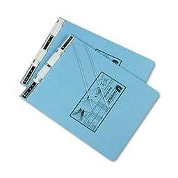 Universal - 6 Pack - Pressboard Hanging Data Binder 9-1/2 X 11 Unburst Sheets Light Blue \